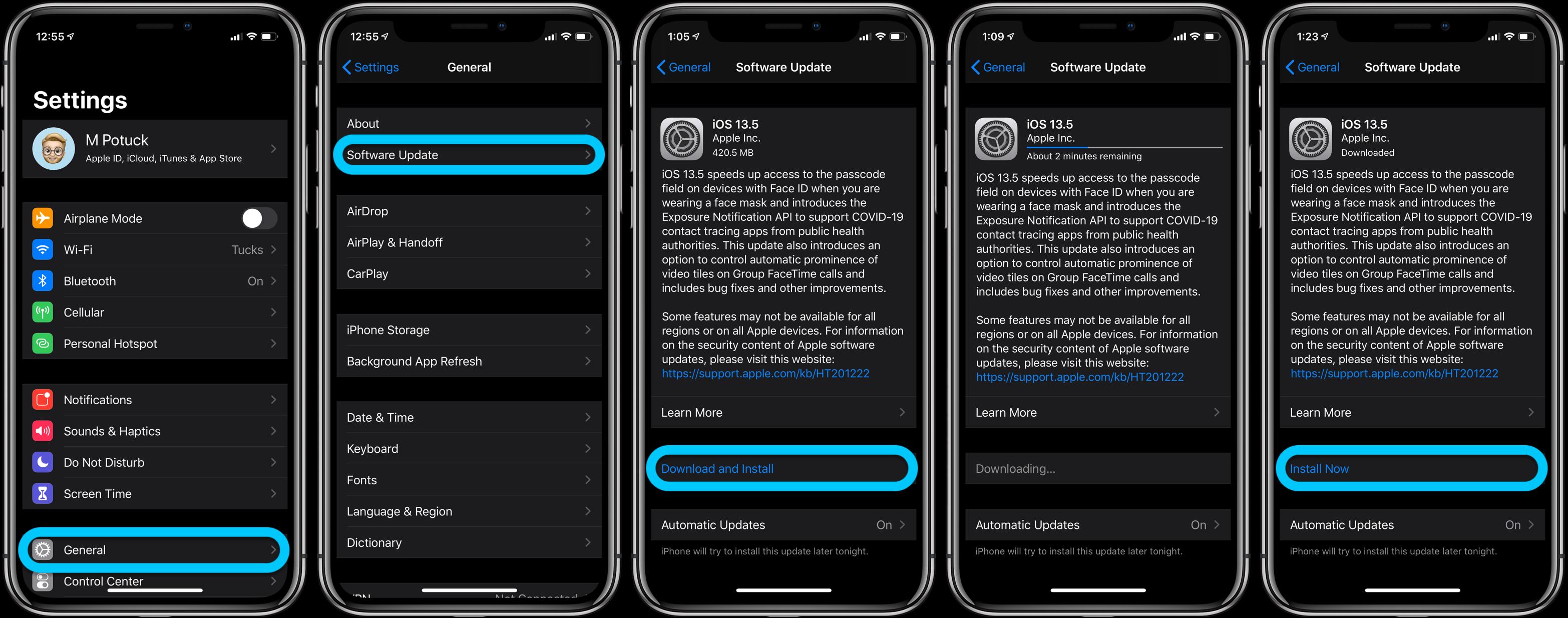 Comment installer l'iPhone iOS 13.5