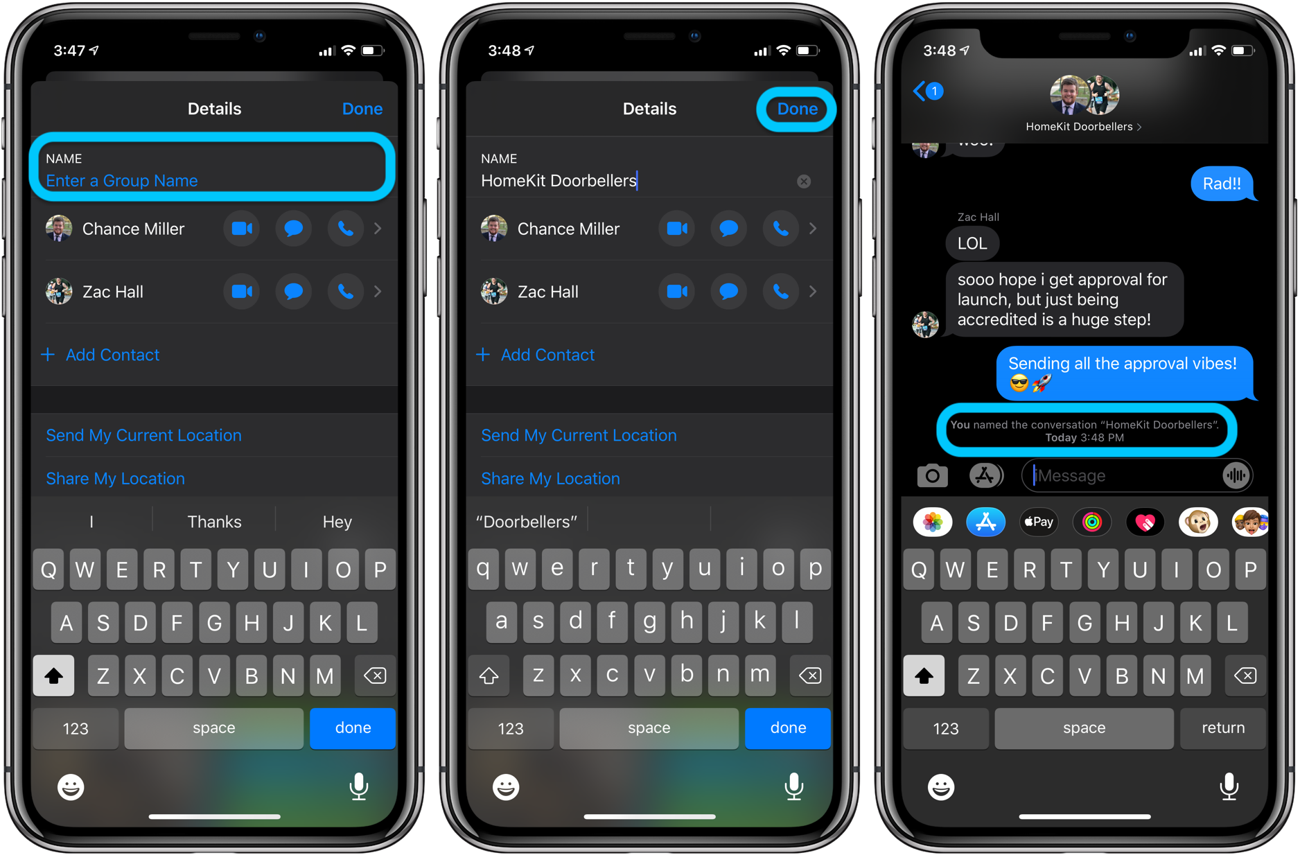 How to rename group iMessage chats iPhone iPad walkthrough 2
