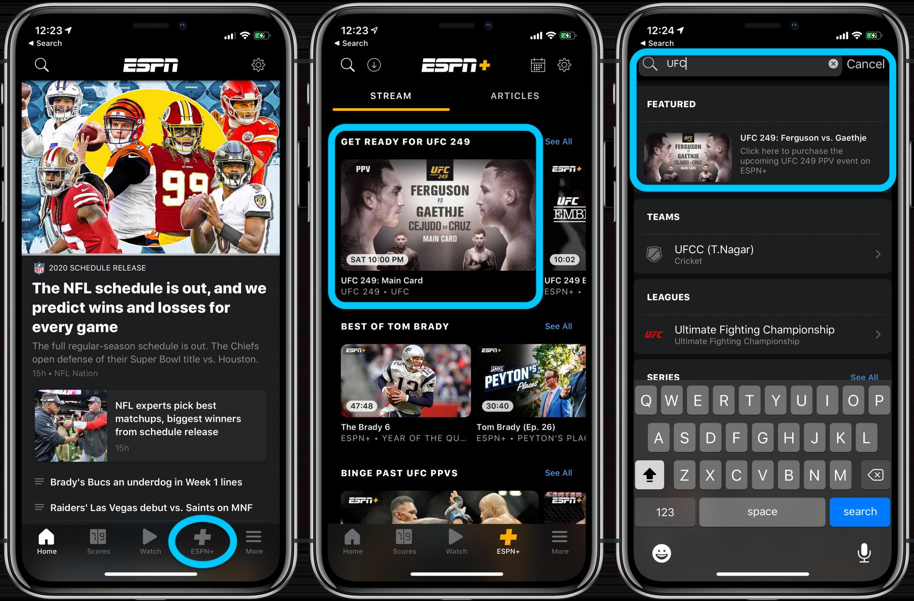 How to watch UFC 249 Ferguson Gaethje iPhone, iPad, Apple TV walkthrough