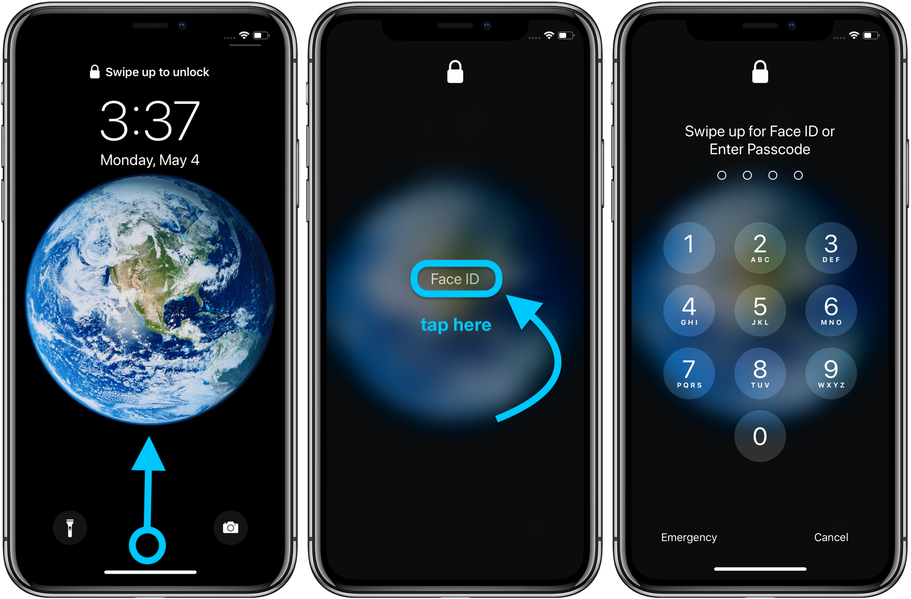 iPhone how to change passcode, skip Face ID walkthrough