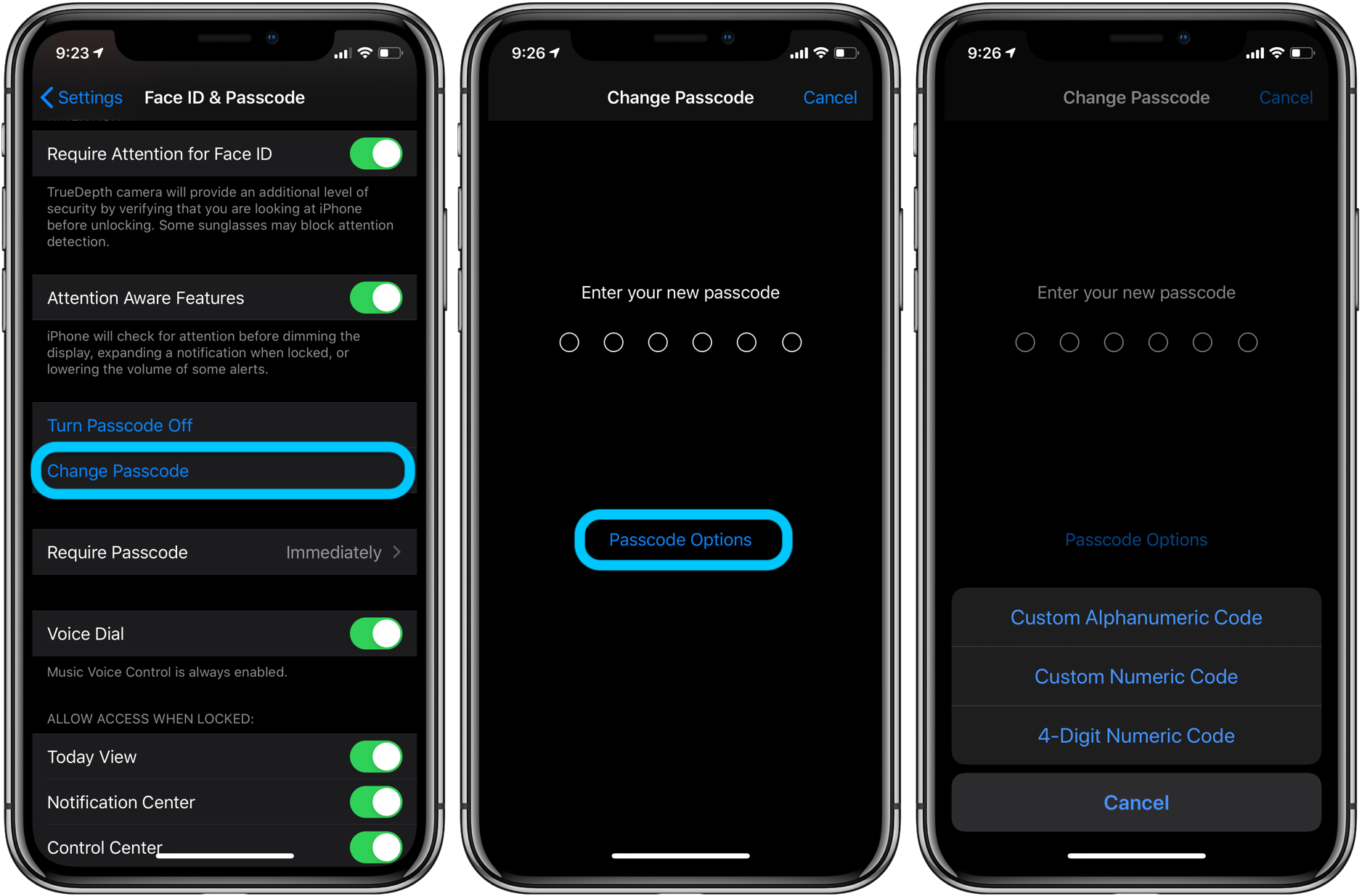 iPhone how to change passcode, skip Face ID walkthrough 3