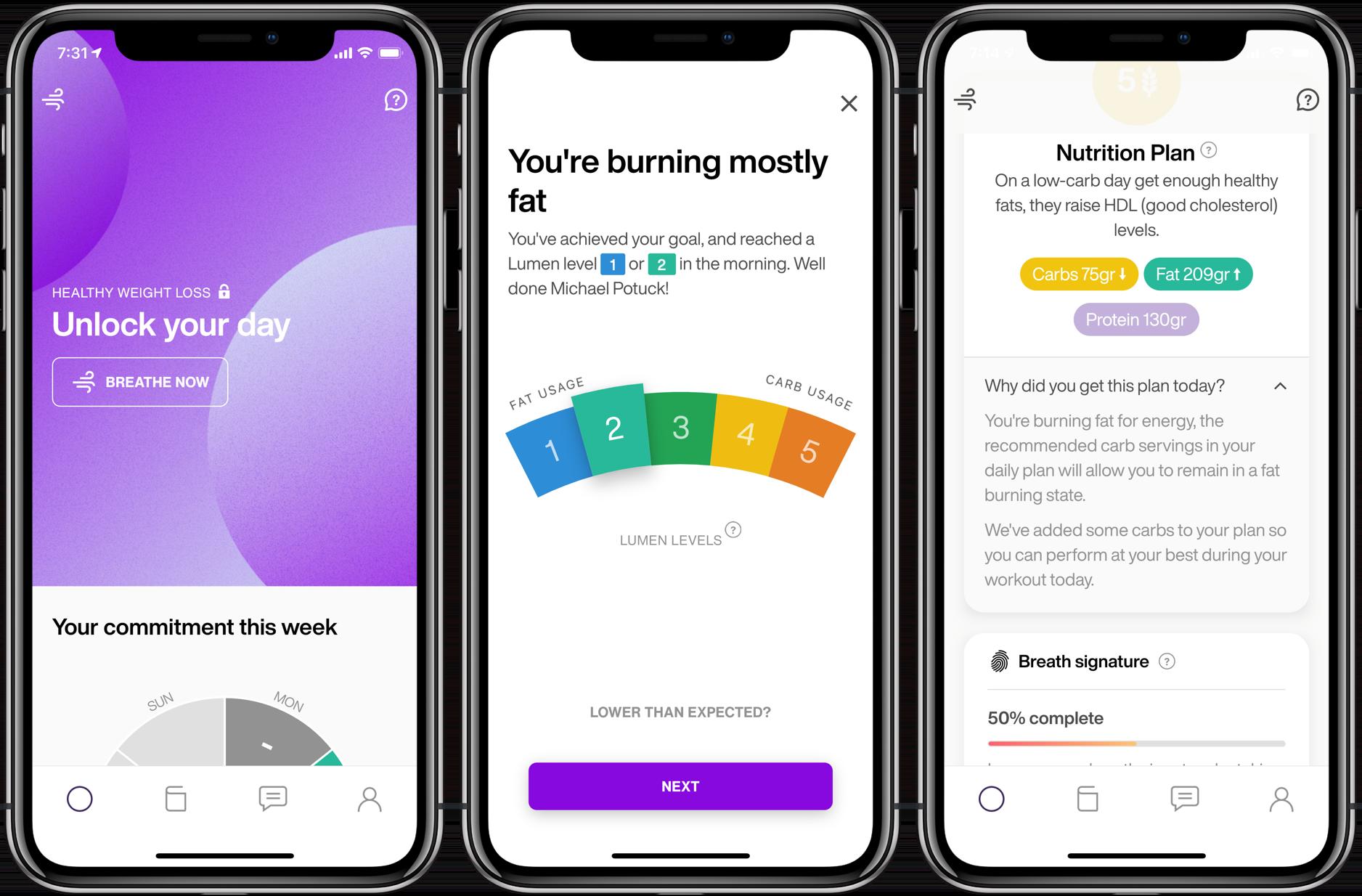 Lumen iPhone iOS metabolic analyzer review