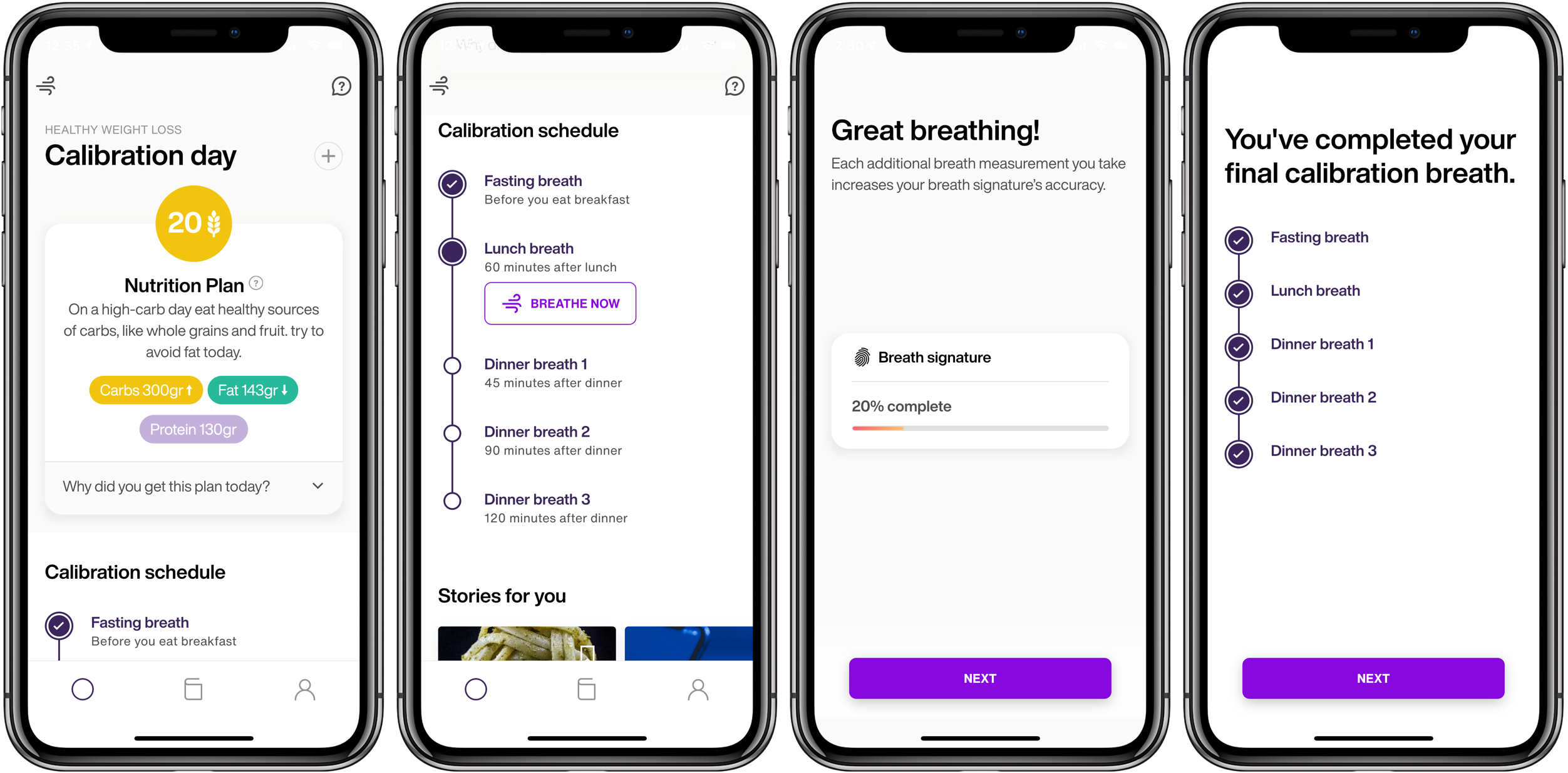 Lumen iPhone iOS metabolic testing device calibration day