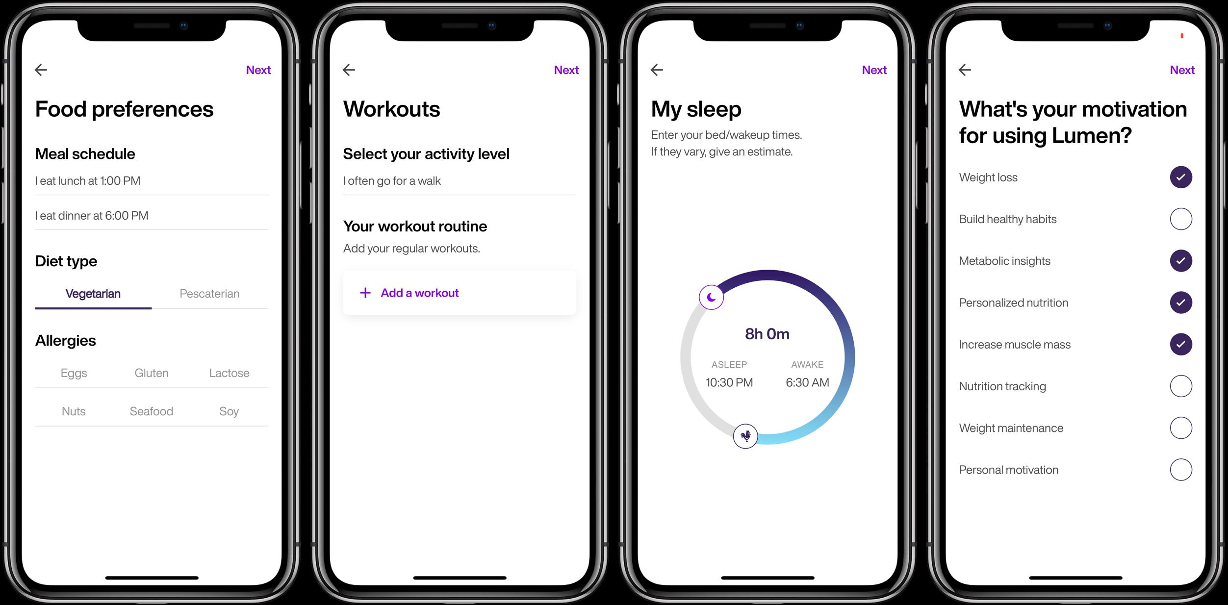Lumen iPhone iOS metabolic testing set up 2