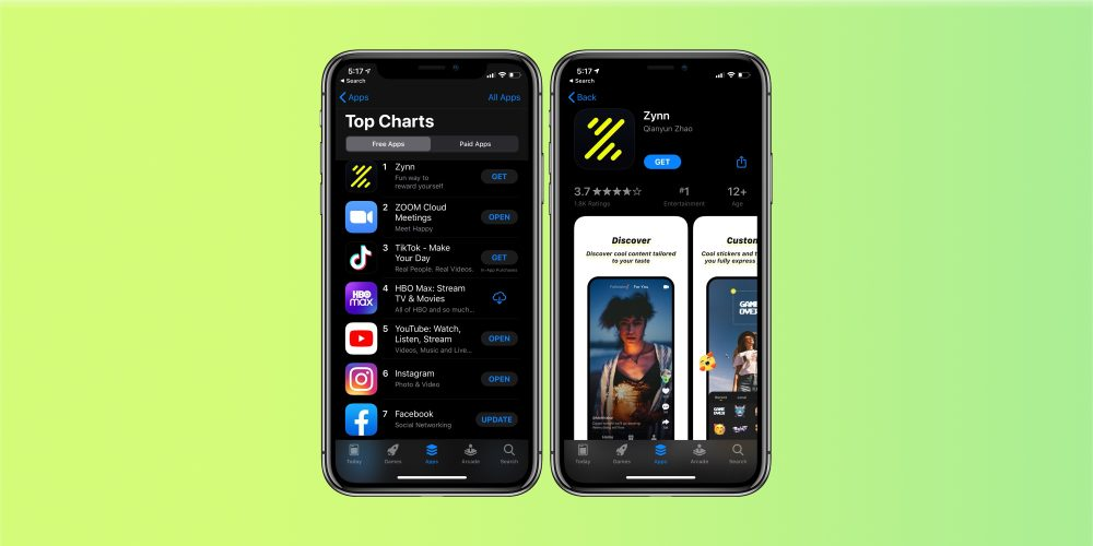 TikTok clone tops App Store