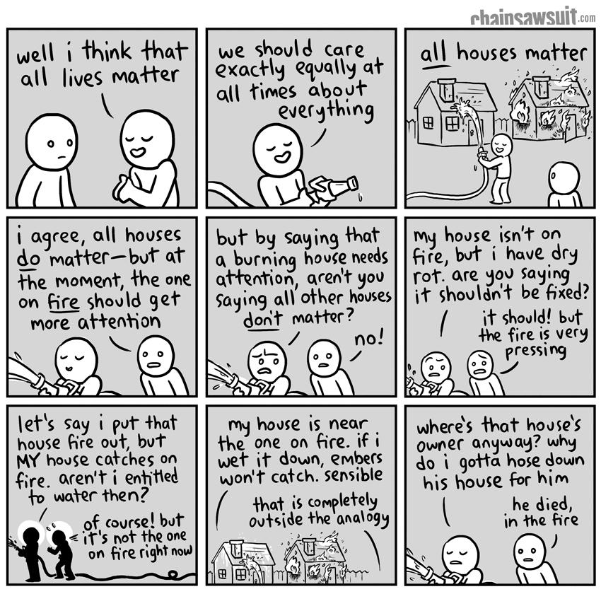 All Lives Matter – House cartoon