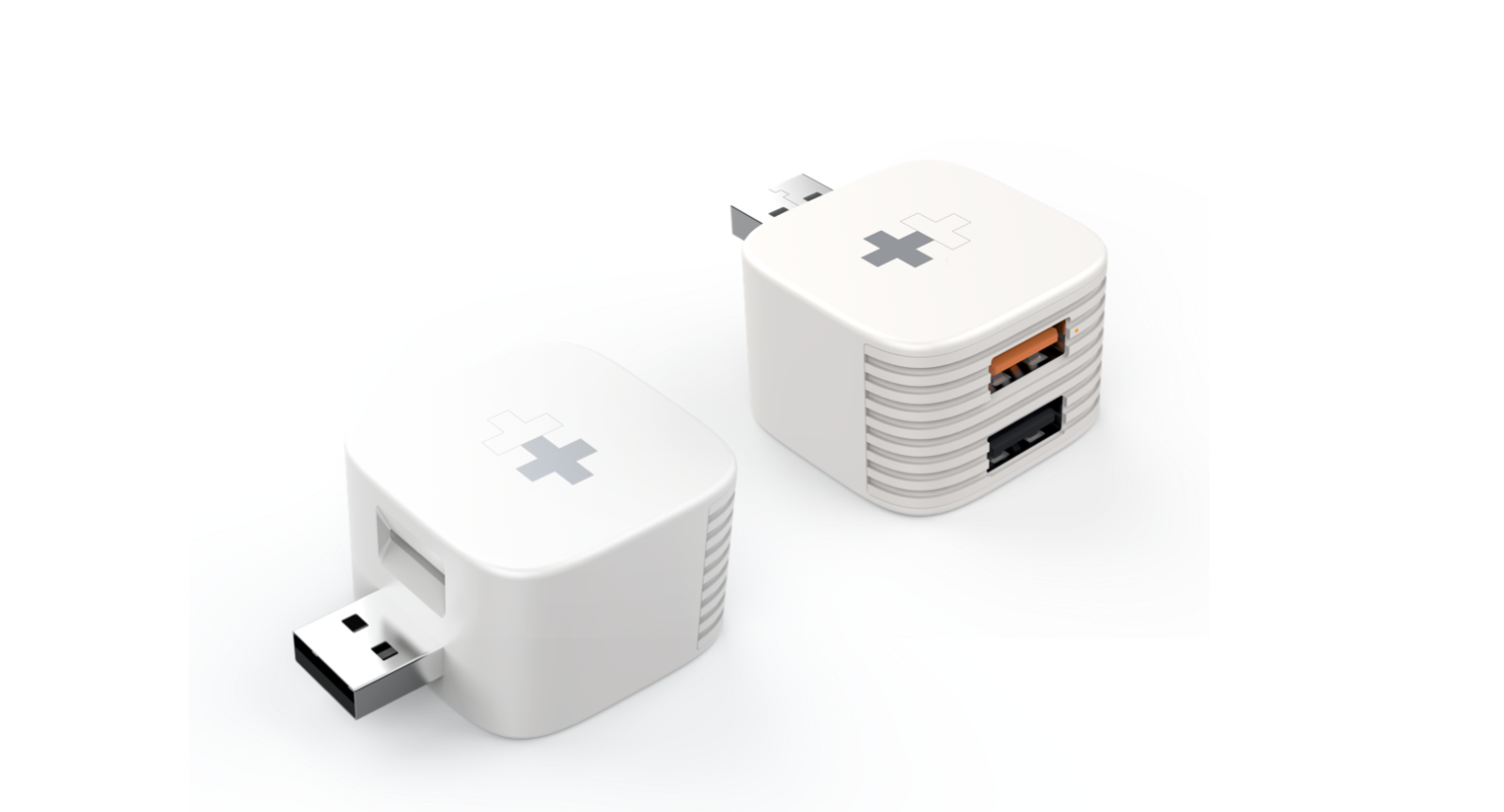 HyperCube backs up your iPhone or iPad to microSD or USB storage while you charge