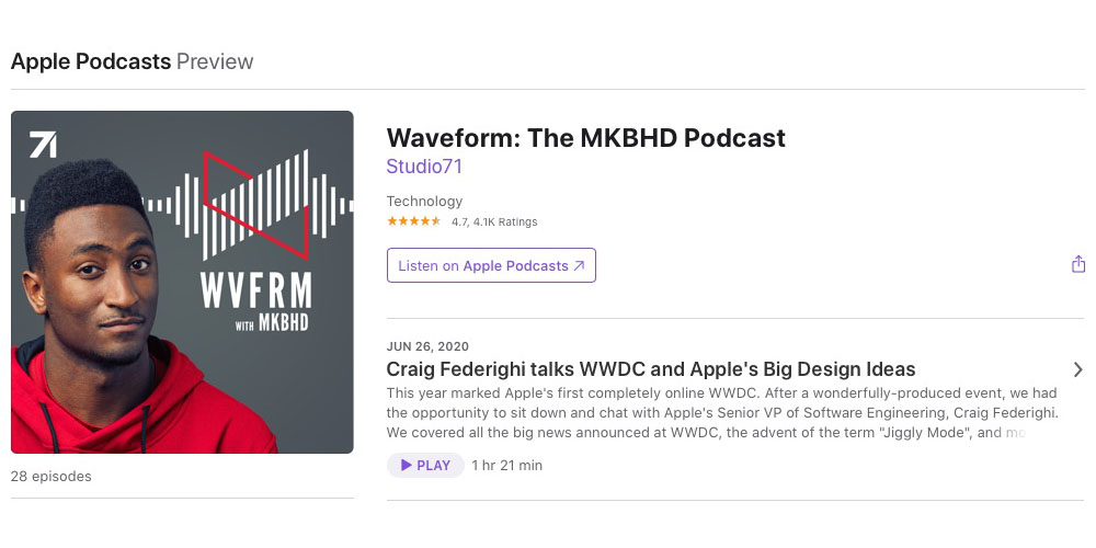 Marques Brownlee Podcast With Craig Federighi Now Available 9to5mac