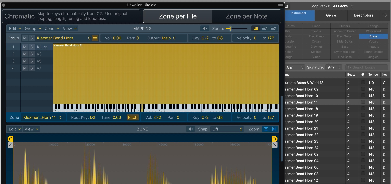 Sampler Logic Pro X 10.5 - Optimized Zone Per