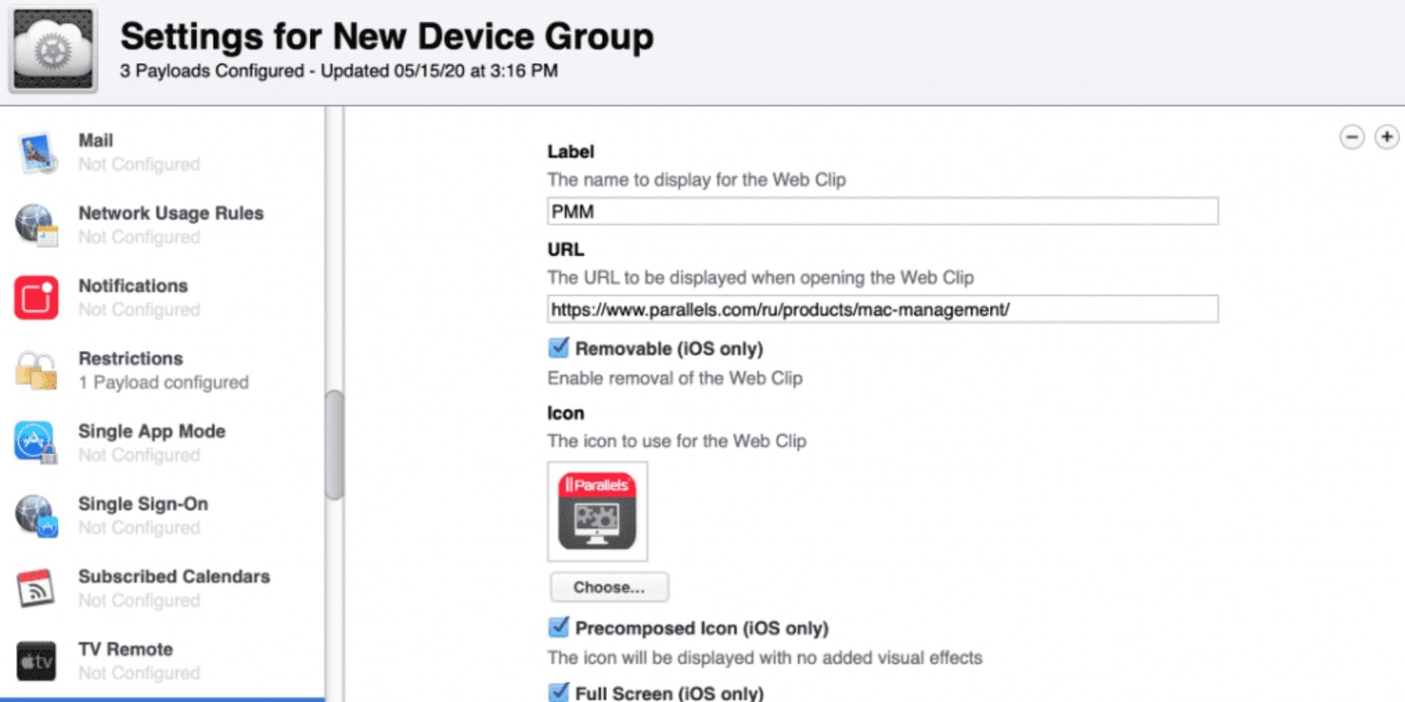 Parallels Mac Management 8.5