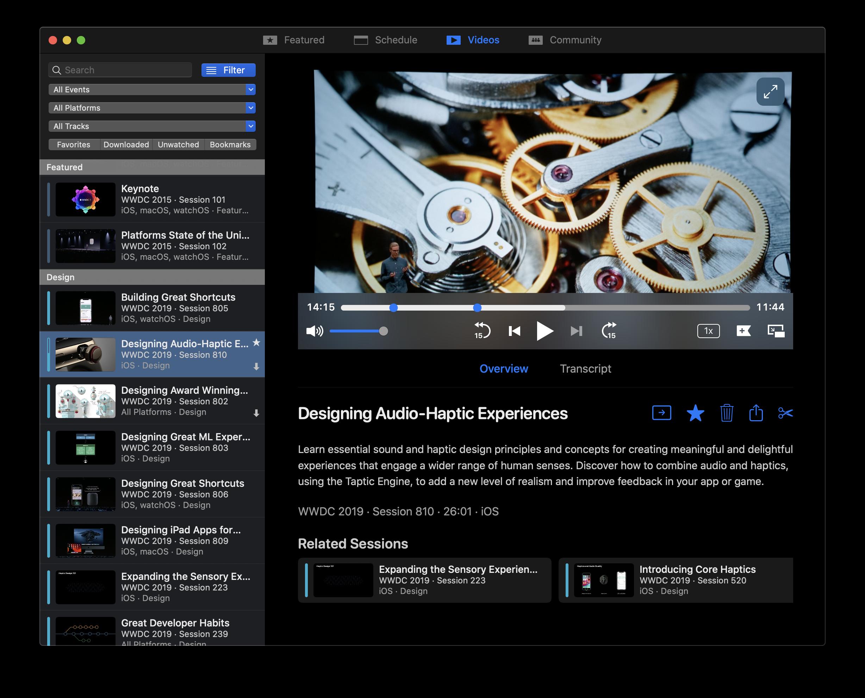WWDC for Mac app
