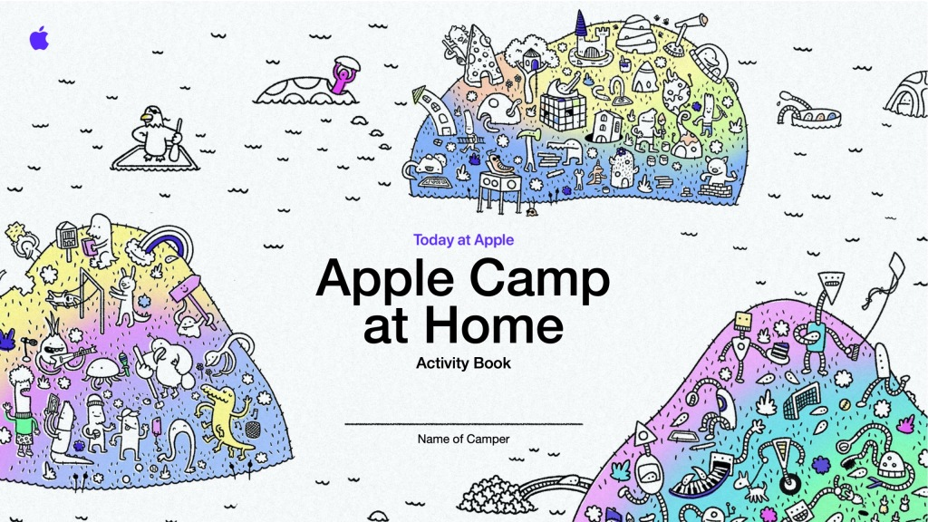 photo of Apple Camp at Home registration now open with free creative Activity Book image