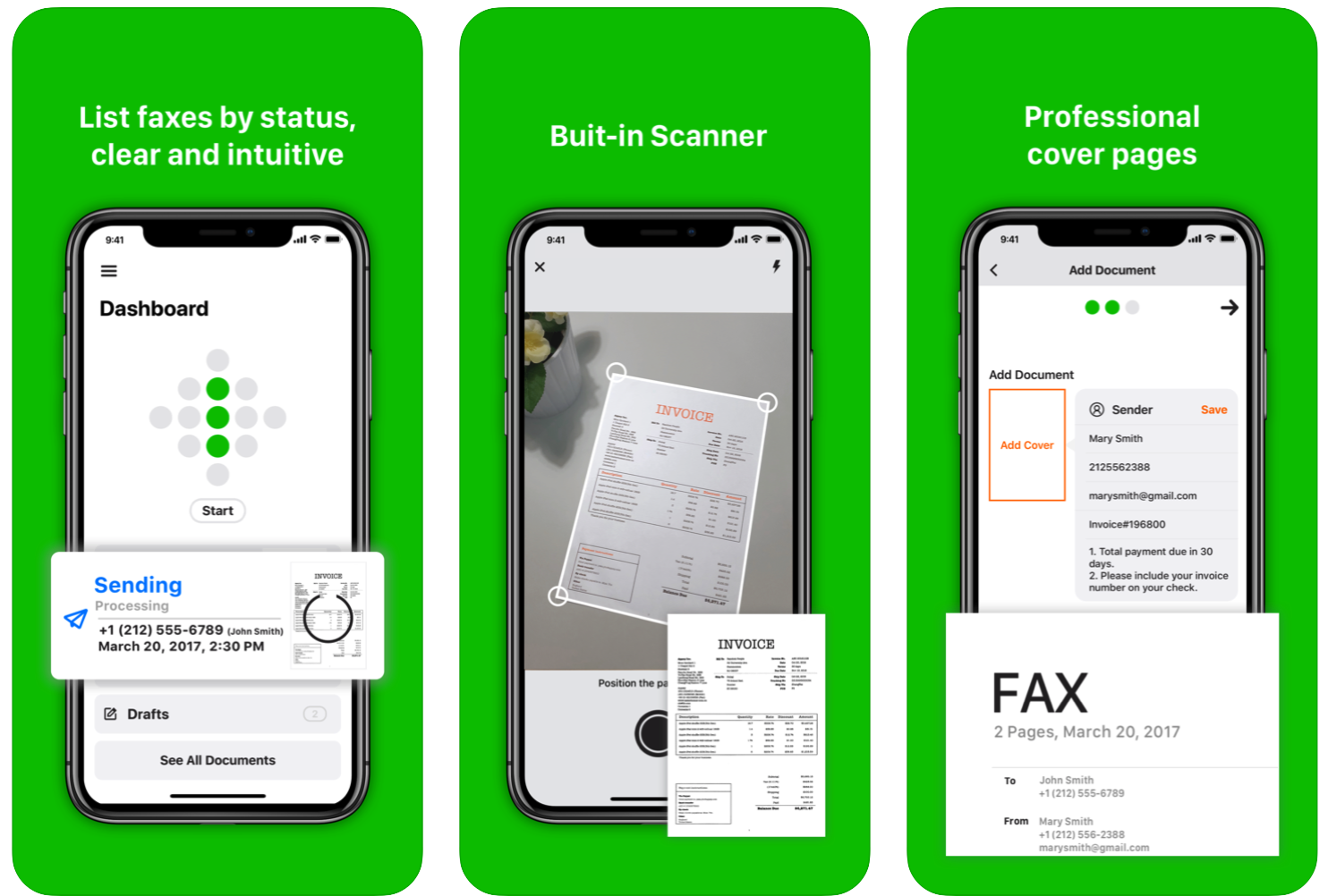 How to receive and send fax with iPhone and iPad apps