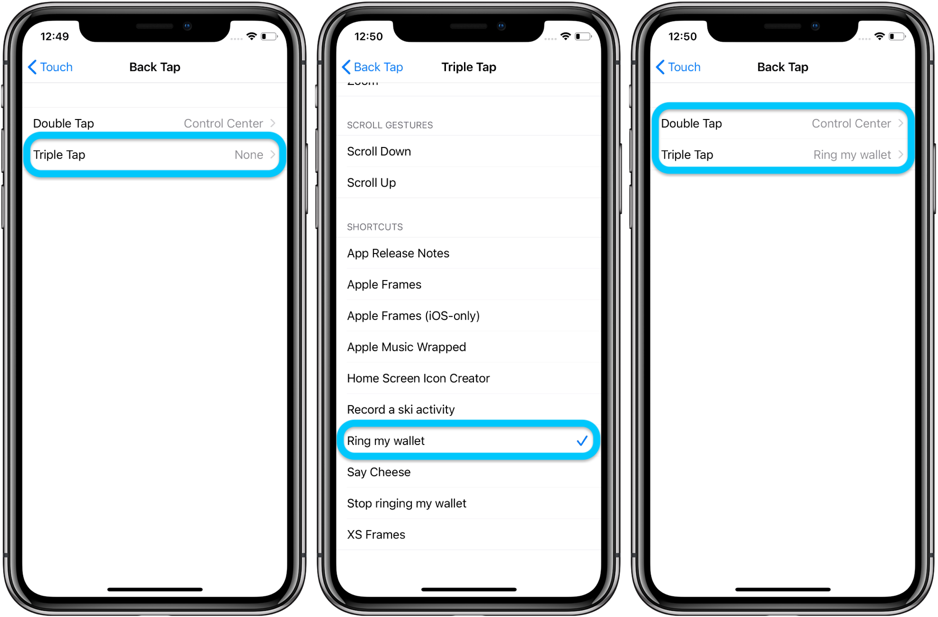How to use iPhone Back Tap custom controls walkthrough 3