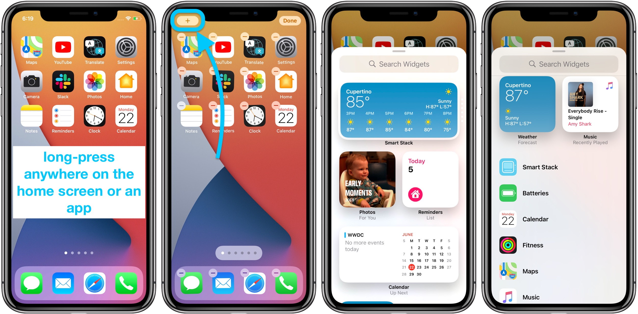 How to use iPhone home screen widgets iOS 14 walkthrough