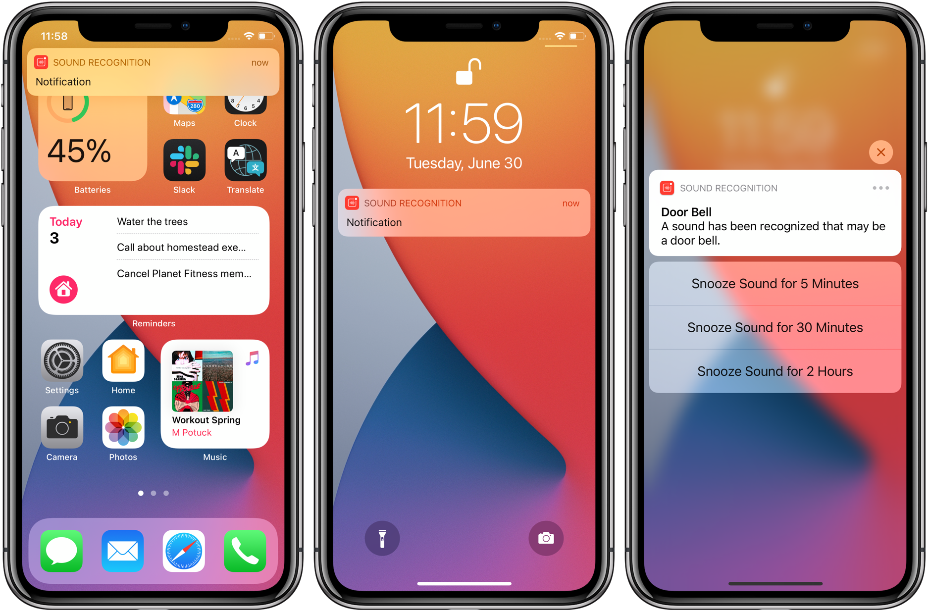 How to use iPhone sound recognition iOS 14 how alerts appear