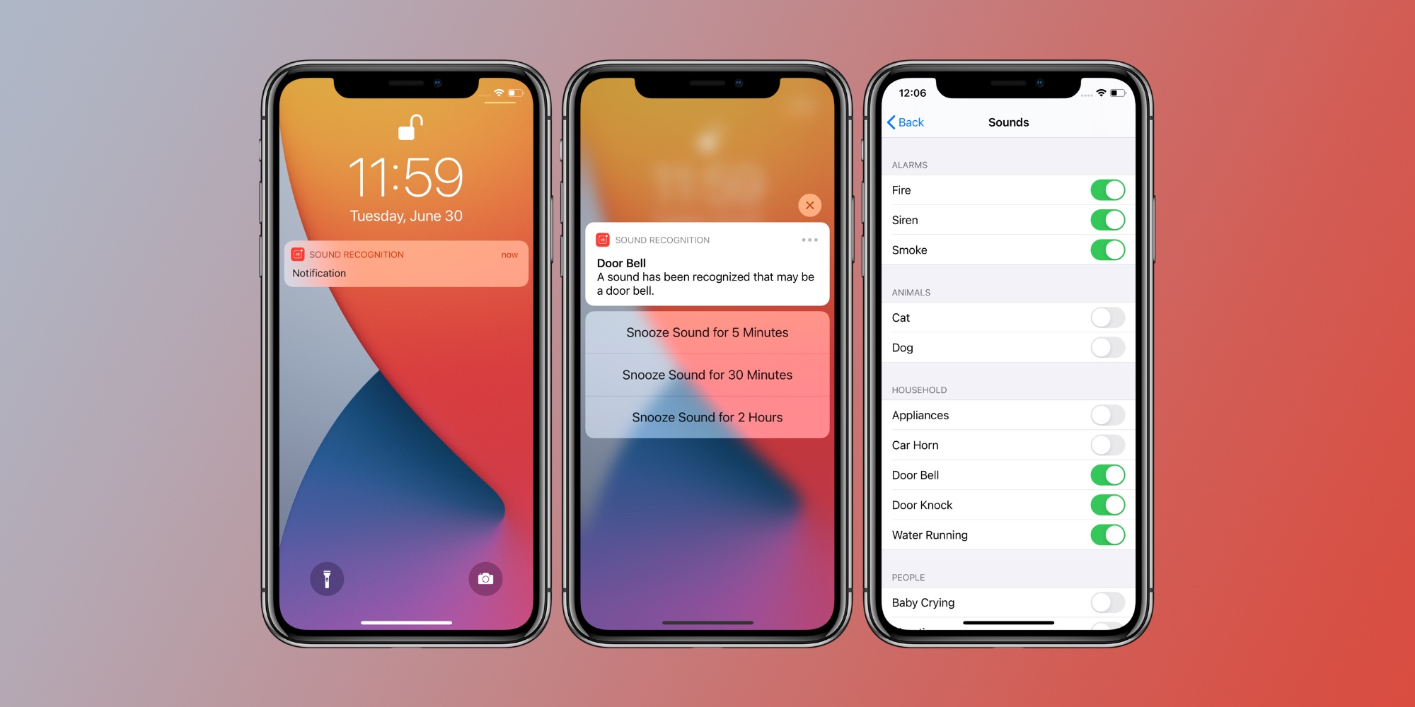 photo of Hands-on with iOS 14's Sound Recognition feature that listens for doorbells, smoke alarms, more image