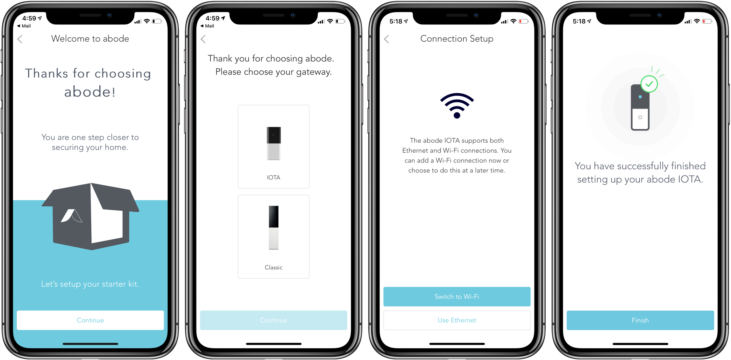 Subscribe to the Iota HomeKit security system advance procedure