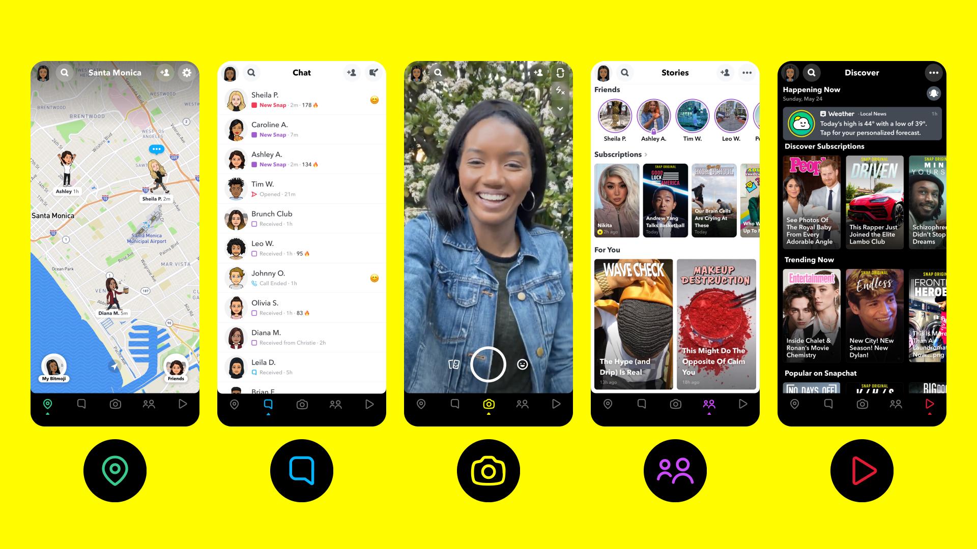Snapchat Action Bar