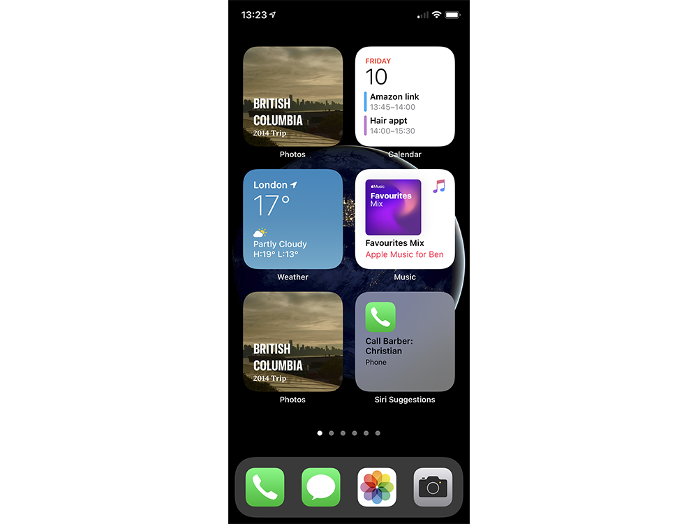 Smart Stack duplicates a widget already on the screen