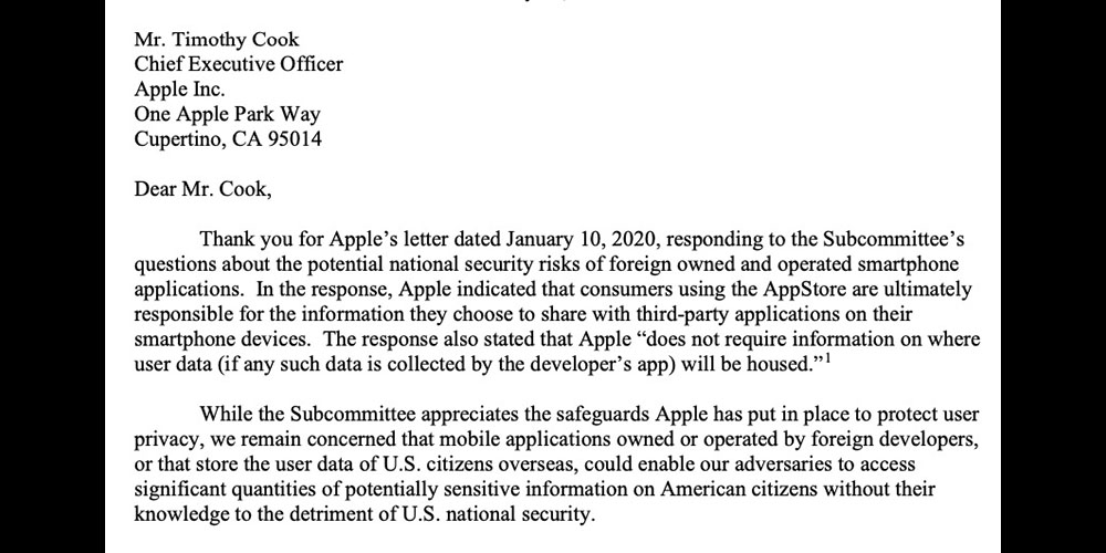 photo of Apple and Google asked to warn users about 'national security risks' of apps image