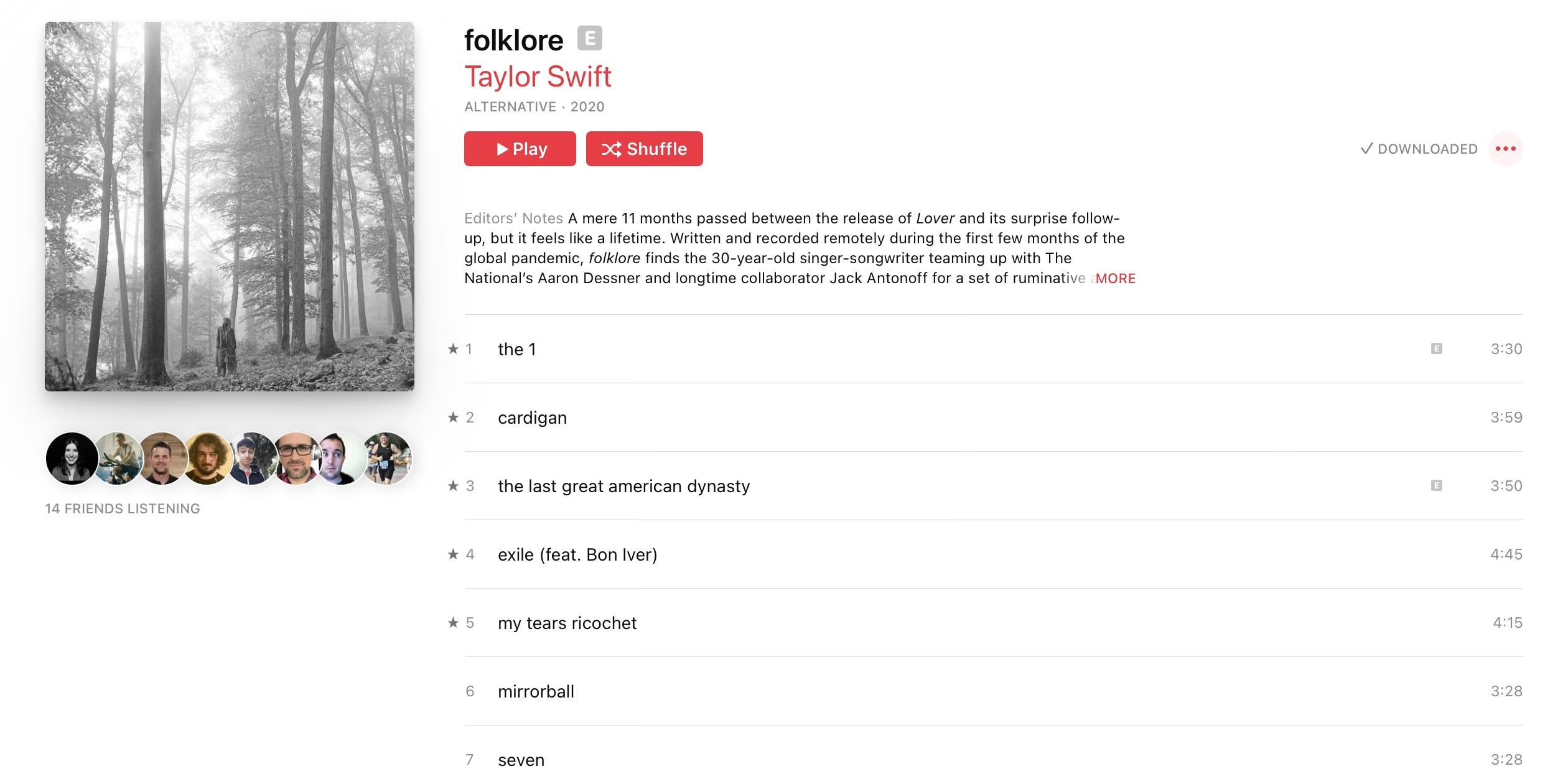 New Taylor Swift Album Folklore Sets Apple Music Streaming Record For A Pop Release 9to5mac