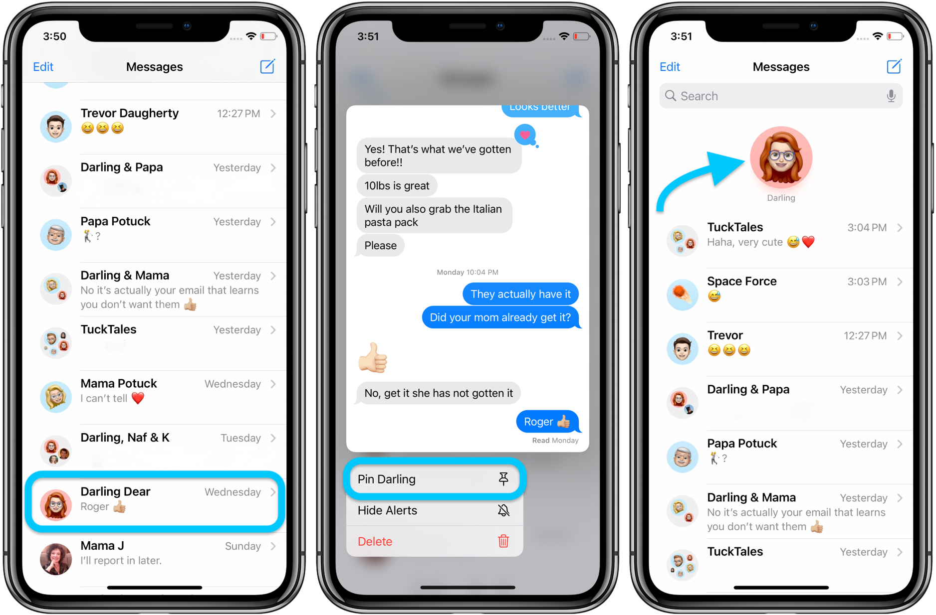 iOS 14 How to pin text messages on iPhone walkthrough 1