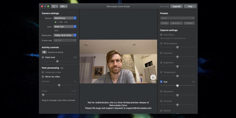 Reincubate Camo Replaces Your Potato Quality Mac Webcam With Your
