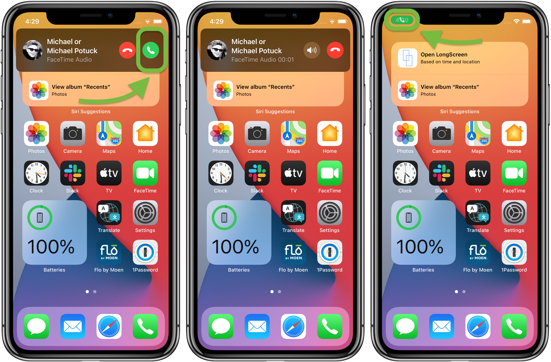 How to Use the Compact Call Interface for iPhone iOS 14 Walkthrough 1