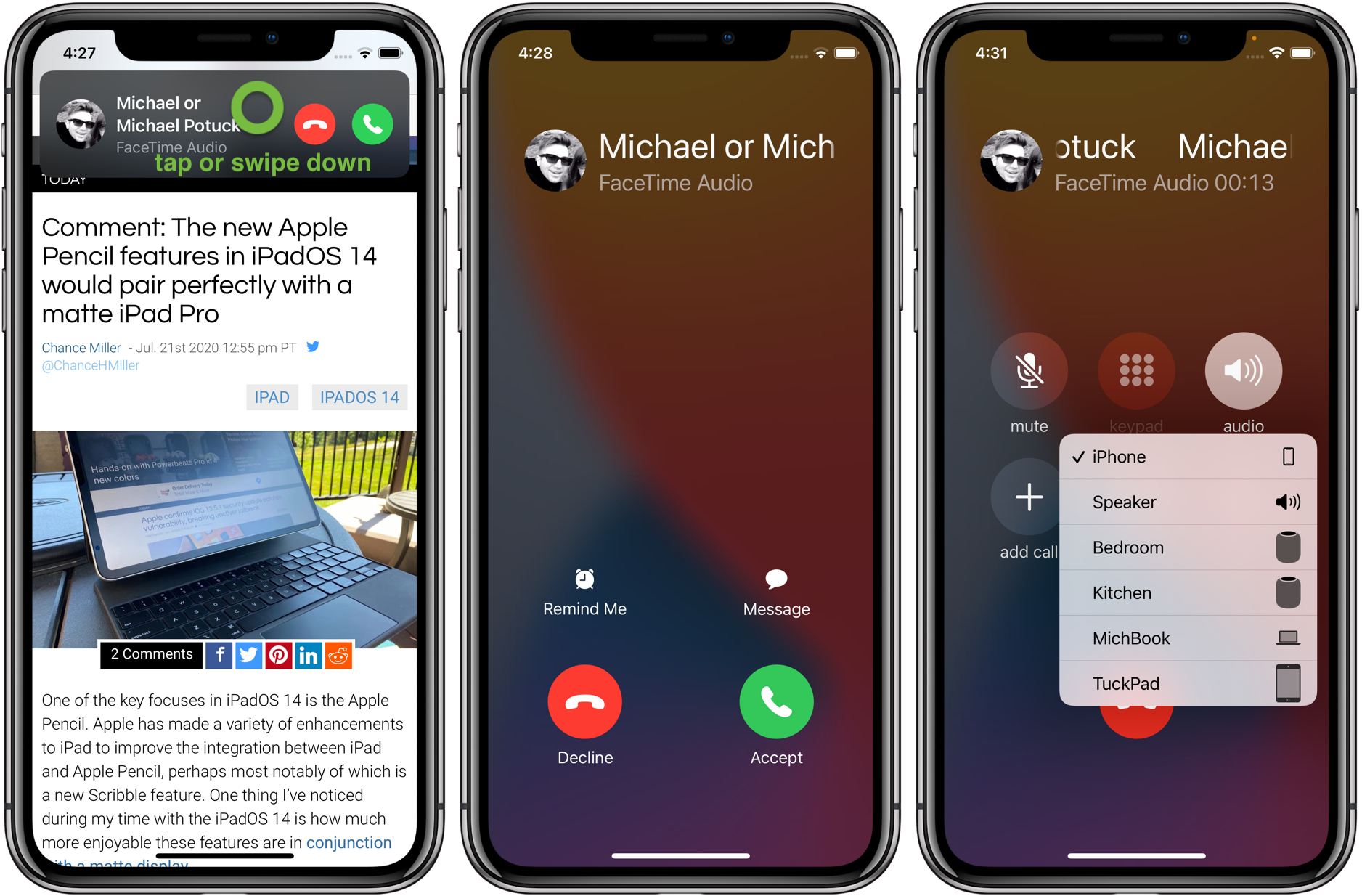 How to use iPhone compact call interface iOS 14 walkthrough 2