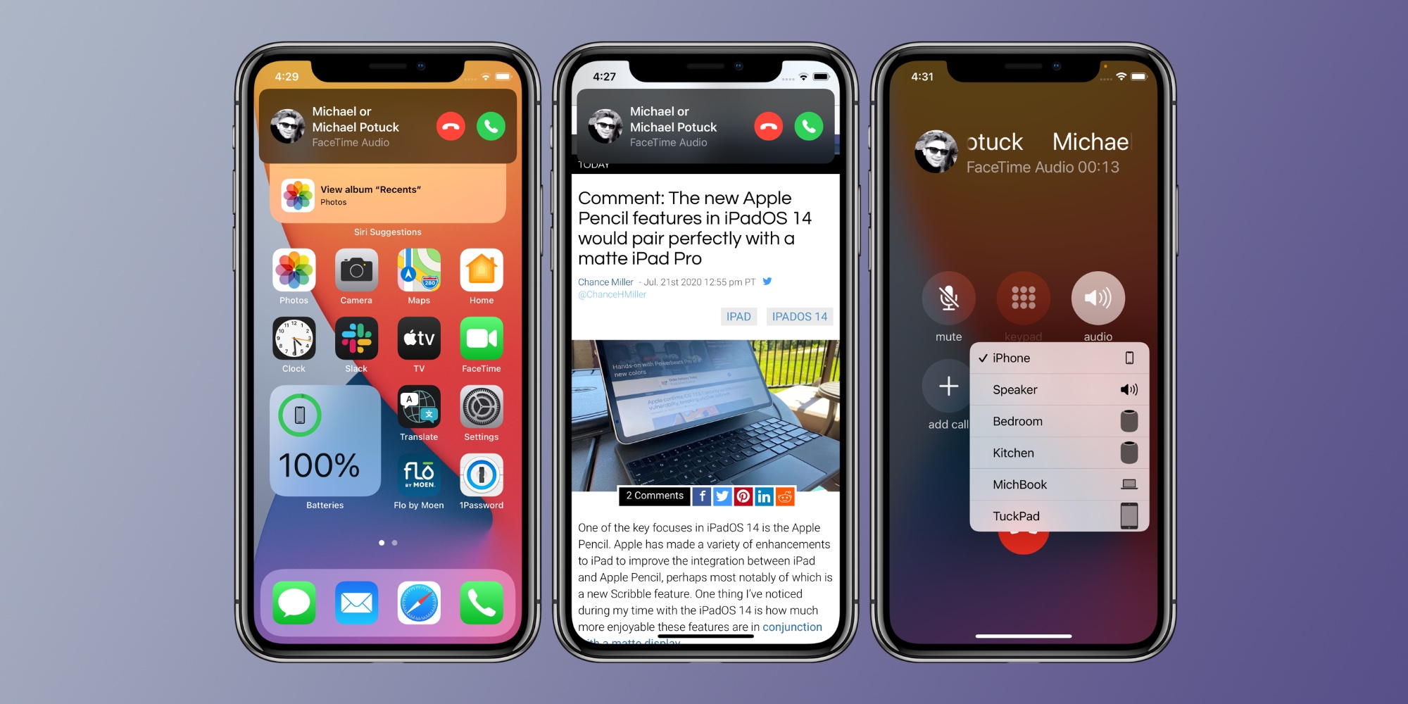 How to use iPhone compact call interface iOS 14
