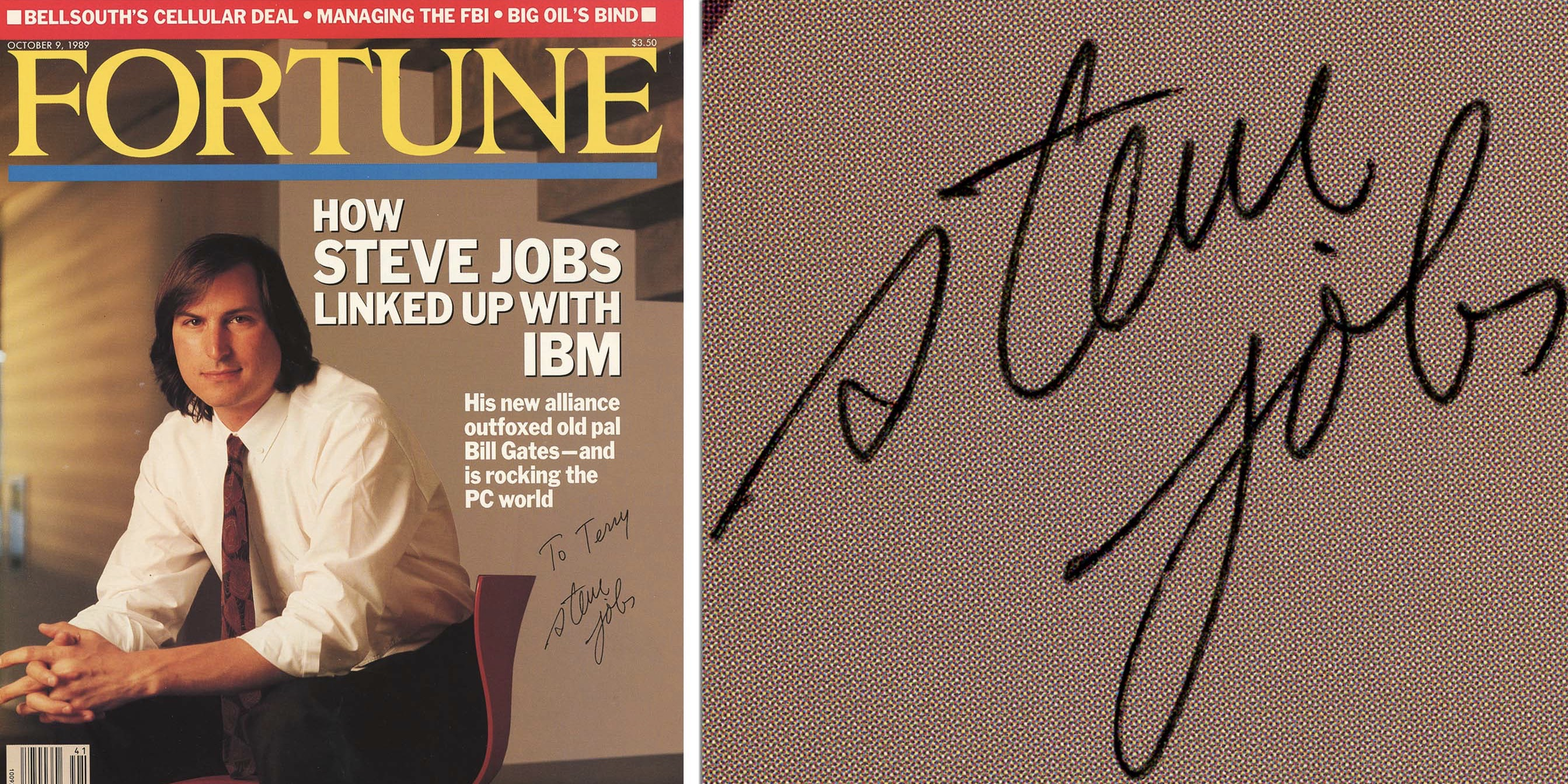 photo of [Update: Sold for $16k] Magazine autographed by Steve Jobs hits auction block with humorous backstory image