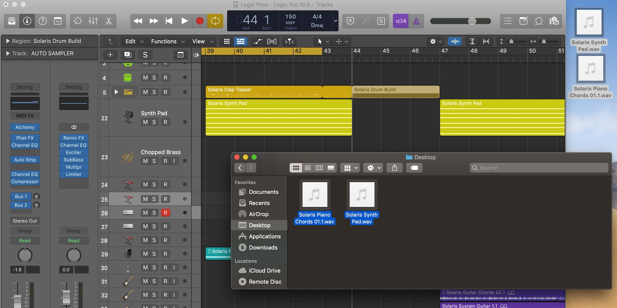 Logic Pro X 10.5: Drag and Drop export — one-click audio/MIDI region sharing - 9to5Mac