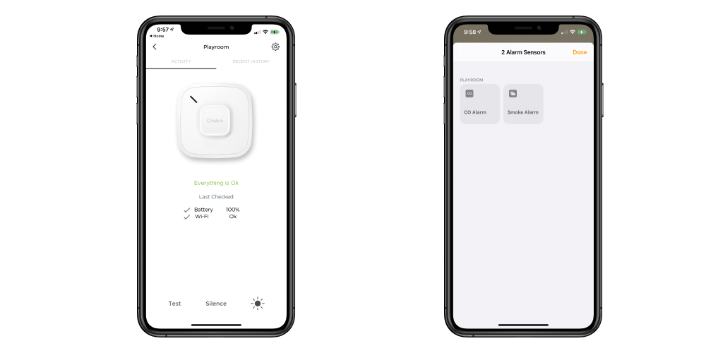 OneLink Smoke Detector: Monitor for smoke & CO with