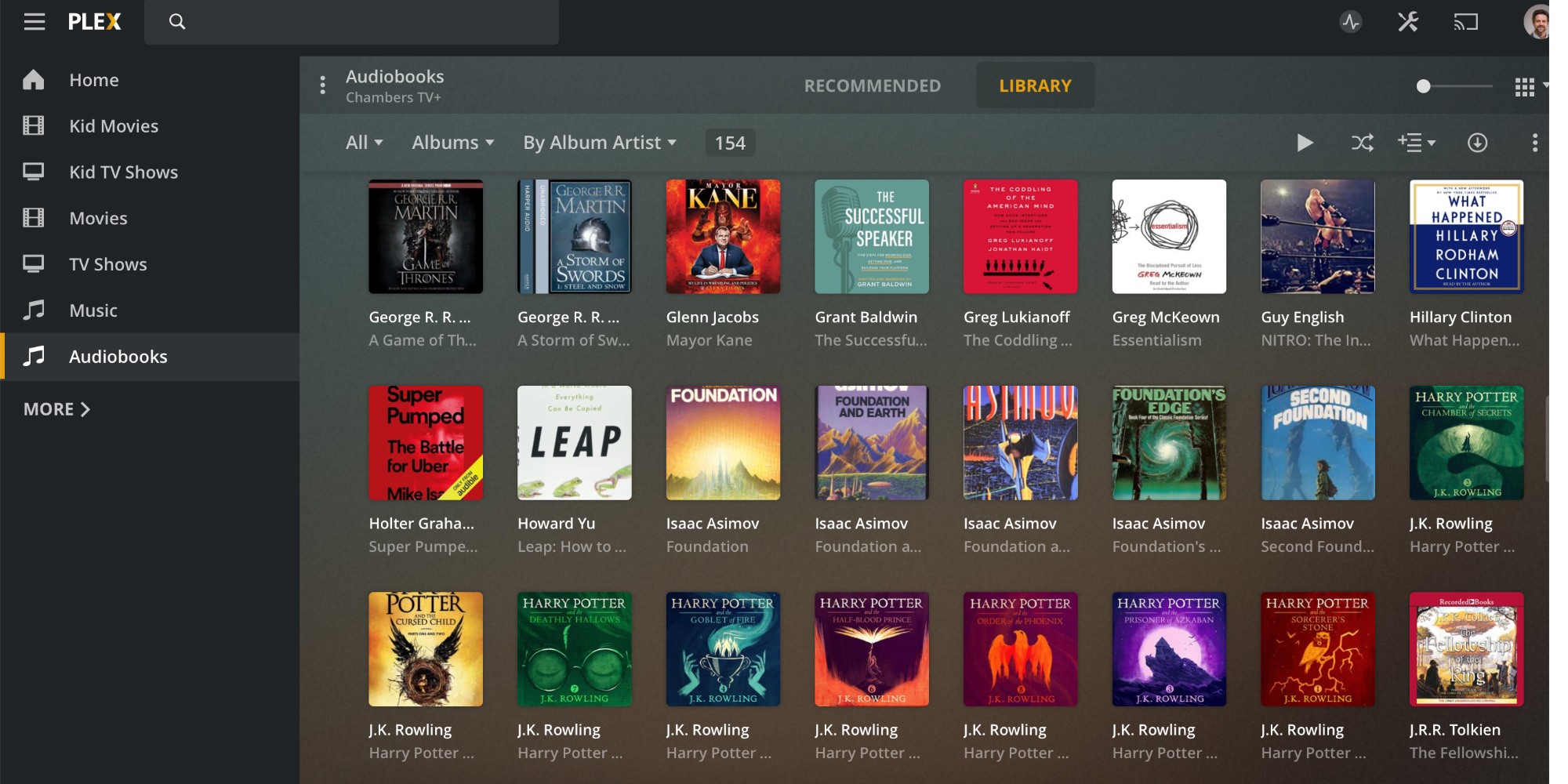 Plex audiobooks