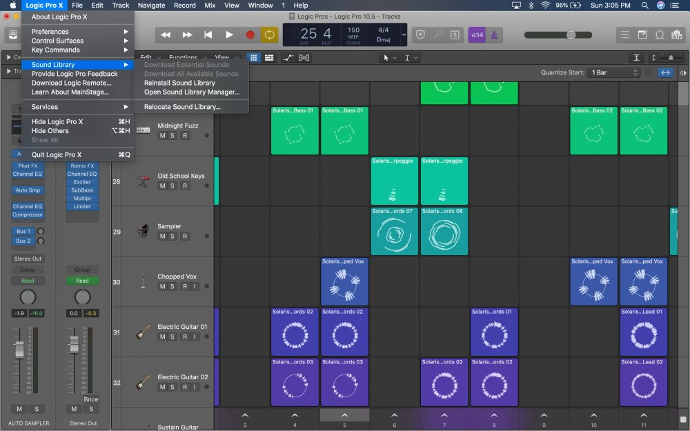 Logic Pro Sound Library Manager