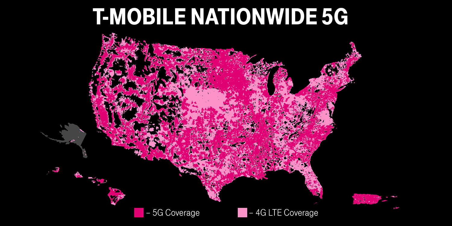 T-Mobile switches on standalone 5G network, reaches 2,000 more towns