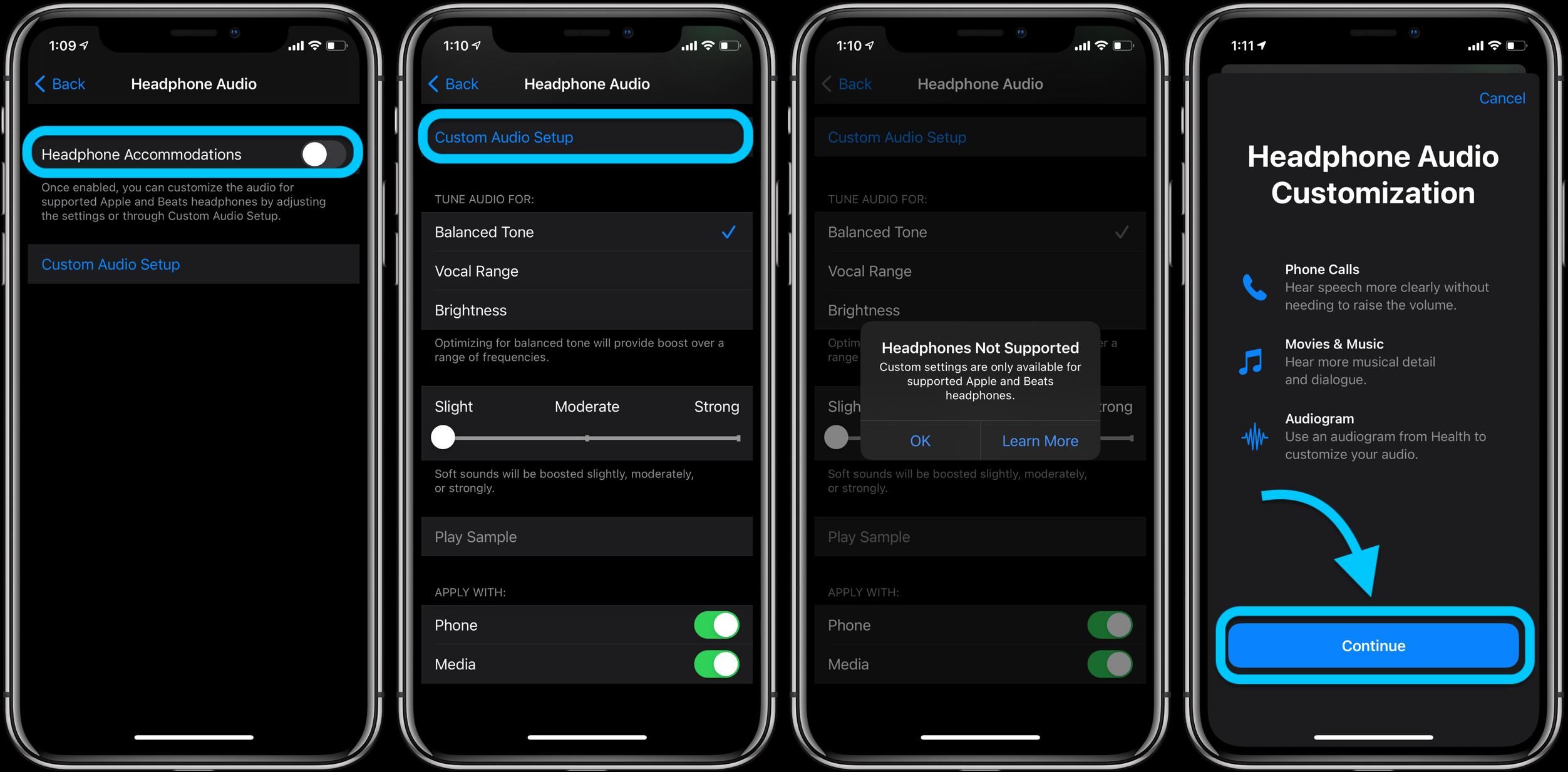 How to customize iPhone headphone audio in iOS 14 walkthrough 2