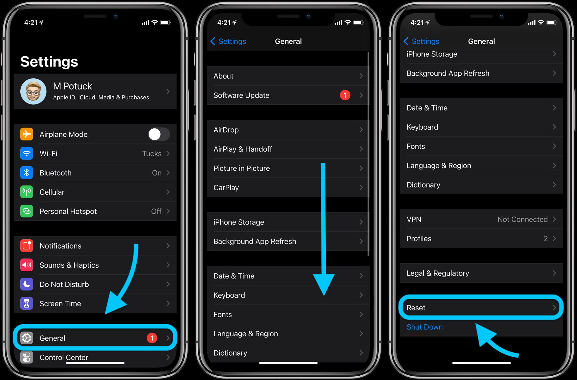 How to factory reset iPhone walkthrough 1