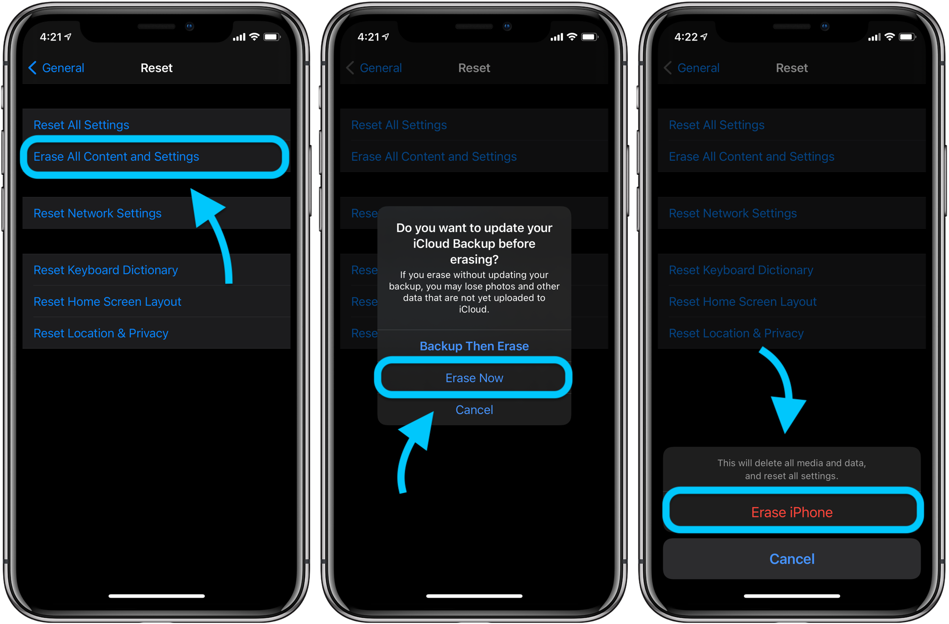 How to factory reset iPhone walkthrough 2