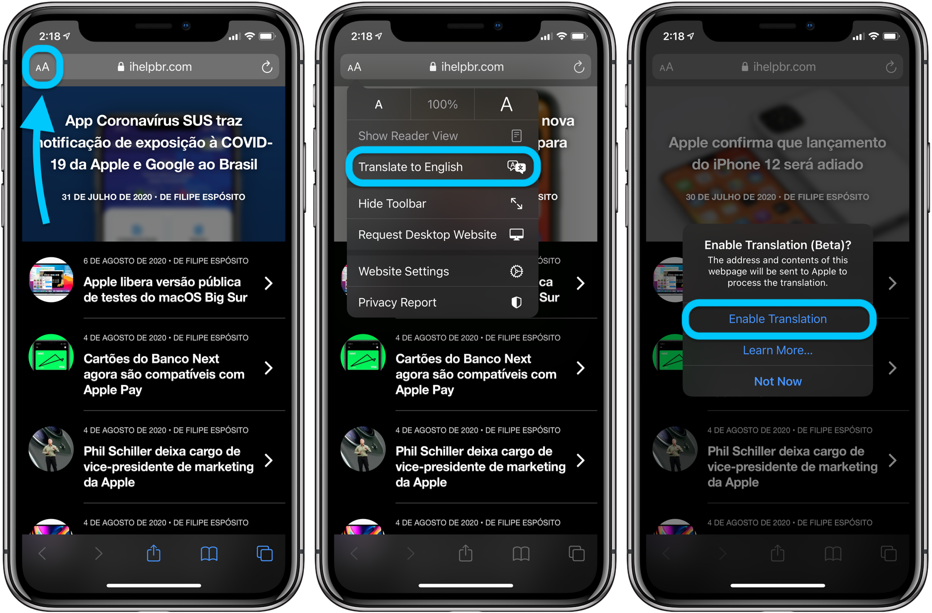 How to translate websites iPhone and iPad in iOS 14 walkthrough 1