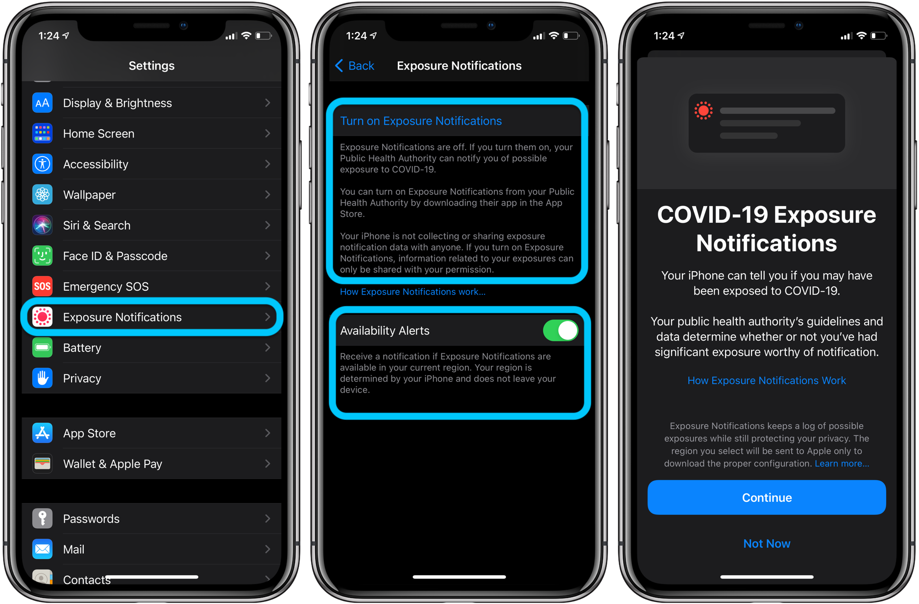 How to turn on/off COVID-19 contact tracing on iPhone