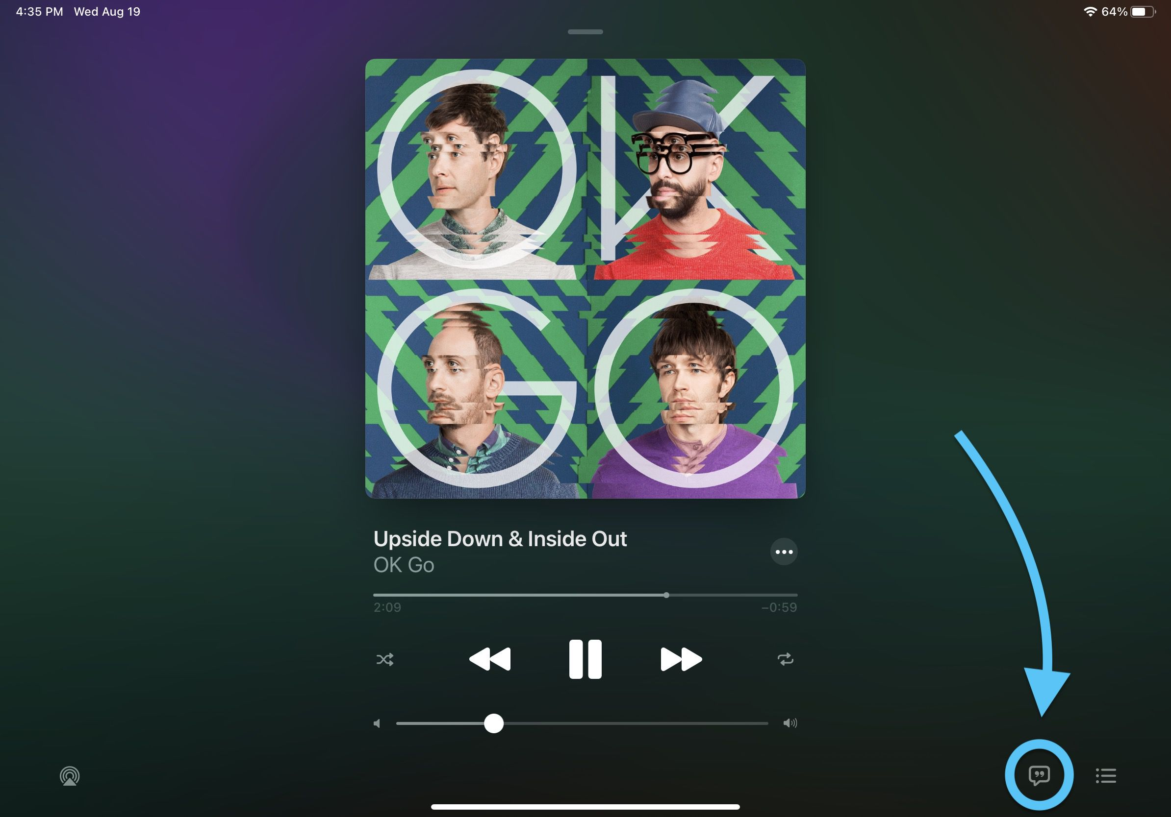 How to use full screen live lyrics on iPad in iOS 14 walkthrough 2