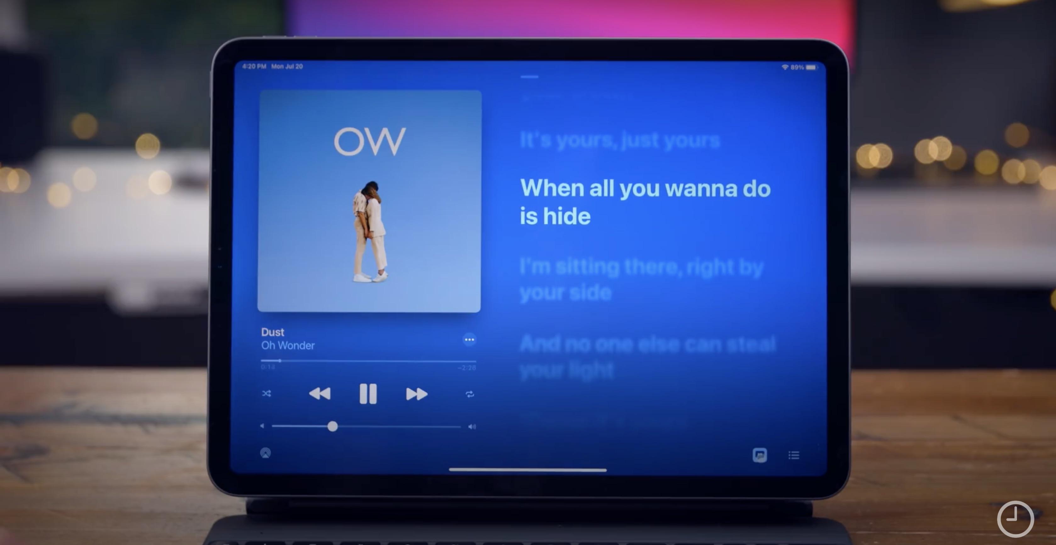 How to use fullscreen live lyrics on iPad in iOS 14 - 9to5Mac