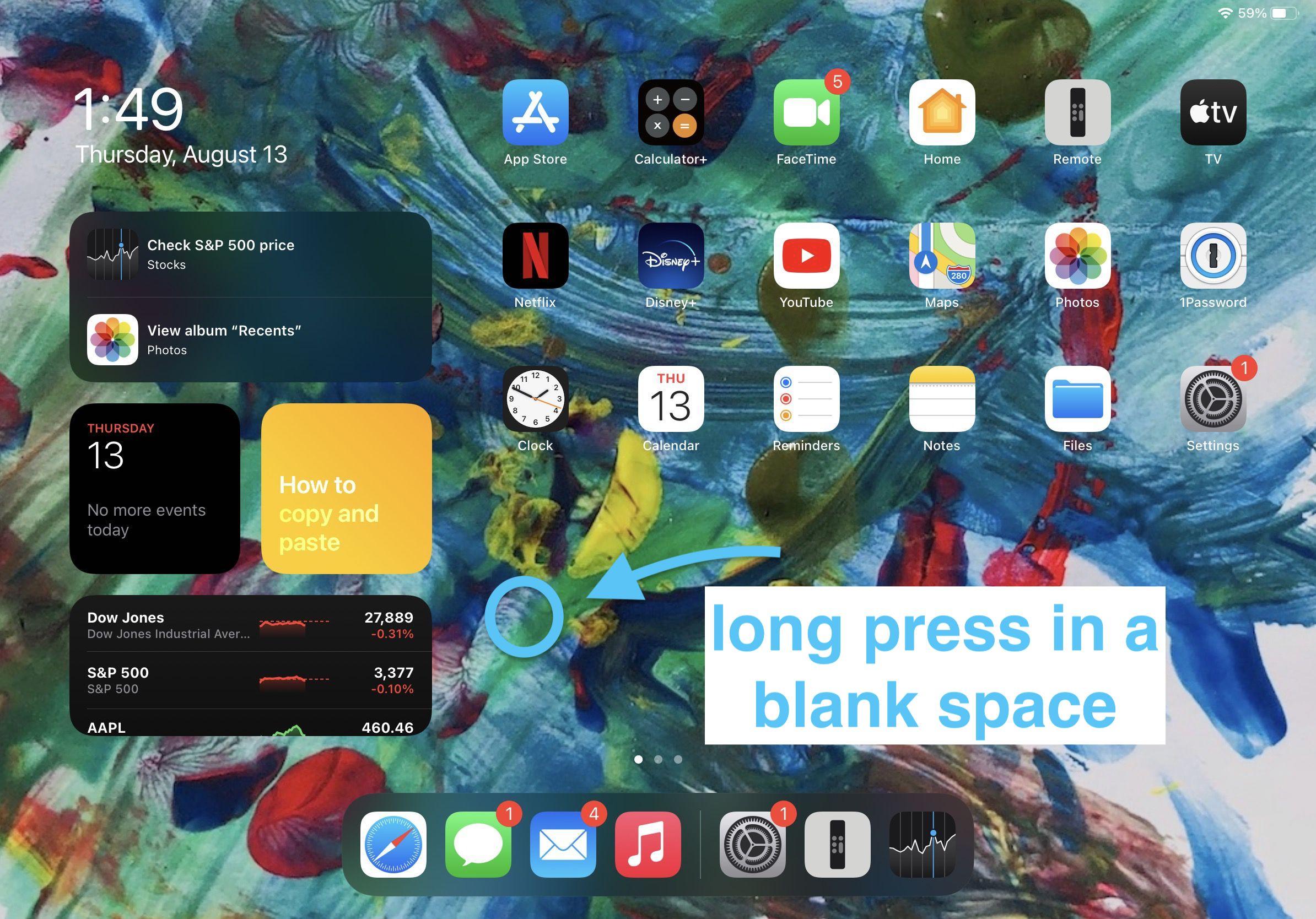 How to use iPad widgets in iOS 14 walkthrough 1