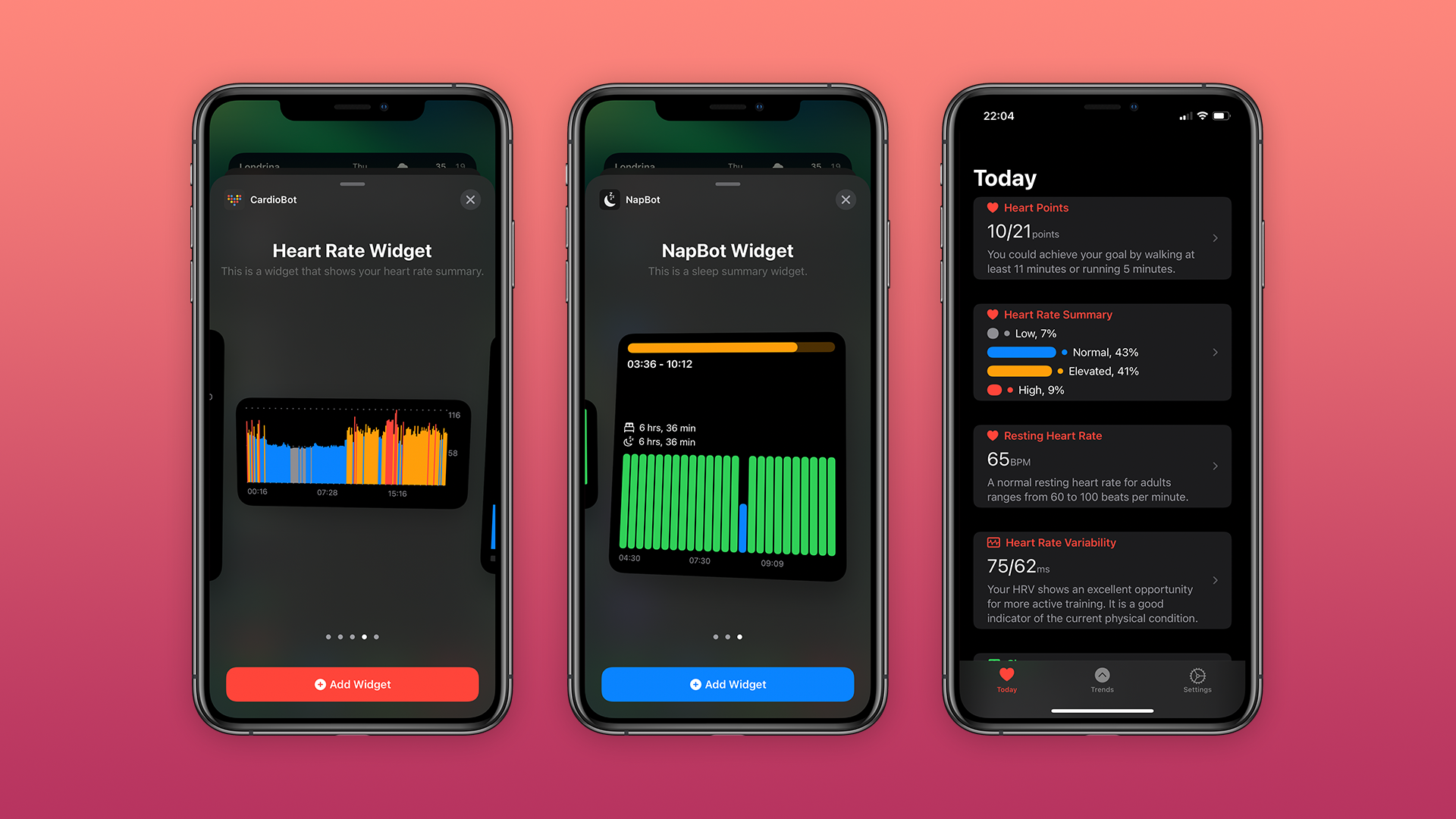photo of CardioBot and NapBot apps updated with redesigned interface, iOS 14 widgets, more image