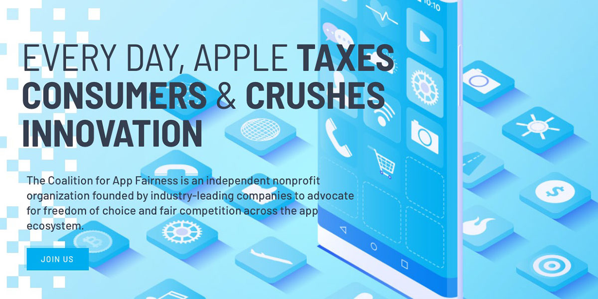 photo of Epic, Spotify, Tile and more form Coalition for App Fairness image