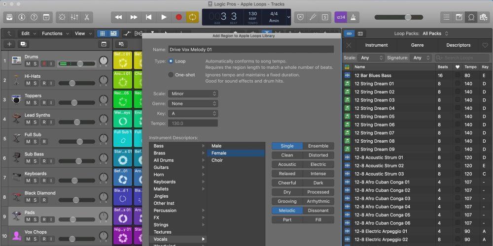 Creating Apple Loops