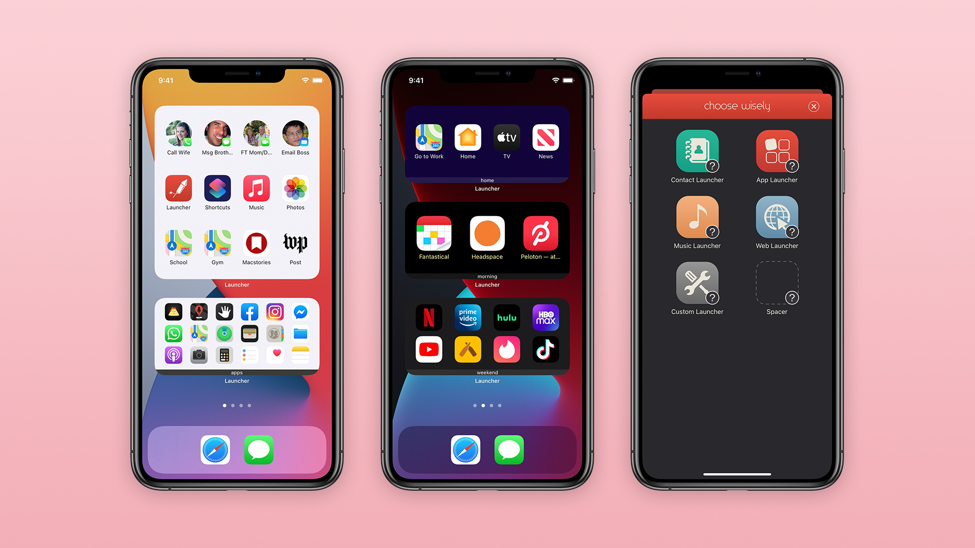Launcher 5 lets you create custom iOS 14 widgets with different shortcuts