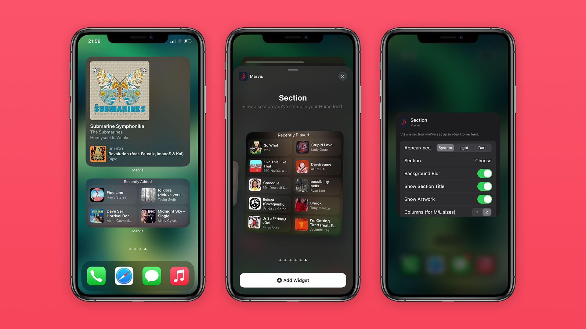 photo of Marvis Pro brings custom Apple Music widgets to your iOS 14 home screen image